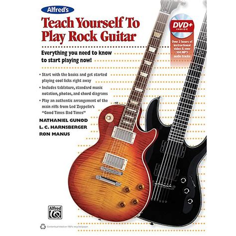 guitar book for beginners teach yourself how to play guitar songs guitar chords theory technique book lessons books alfred alfred s teach yourself rock guitar book dvd