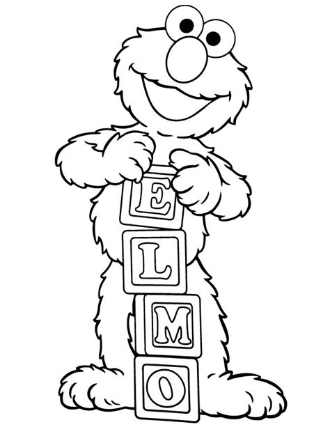 Coloring Page Elmo Birthday Party Pinterest Elmo Birthday Coloring Pages