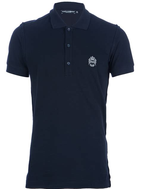 Branded Arizona Blue Shirt dolce gabbana branded polo shirt in blue for lyst