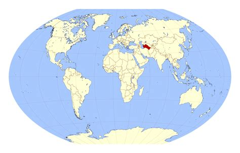 location of asia in world map large location map of turkmenistan in the world