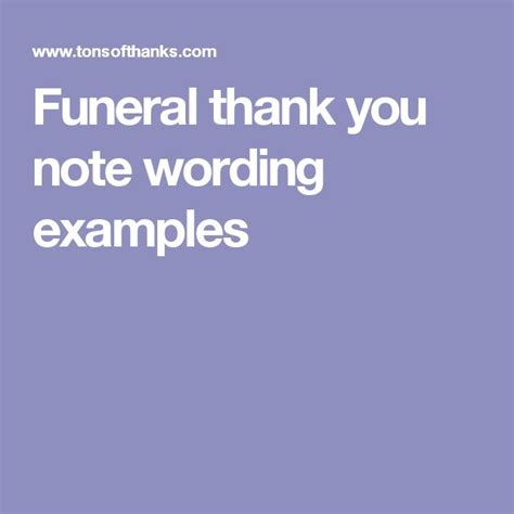 Thank You Letter Wording The 25 Best Funeral Thank You Notes Ideas On