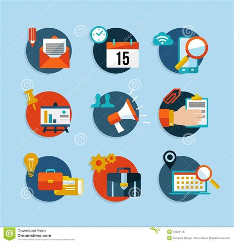 icon design model social media network flat icons set stock vector image