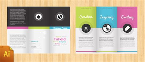 Free Psd Indesign Ai Brochure Templates Web Graphic Design Bashooka Adobe Indesign Tri Fold Brochure Template