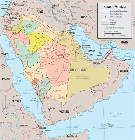 political map of saudi arabia saudi arabia political map riyadh mecca medina