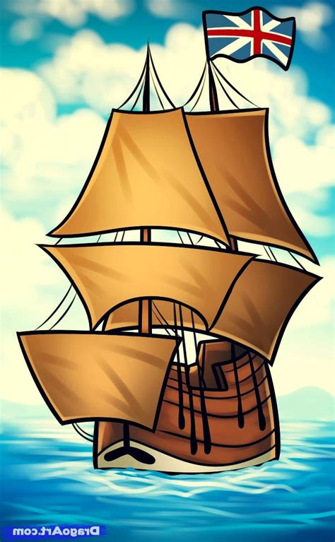 how to draw the mayflower boat may flower photos