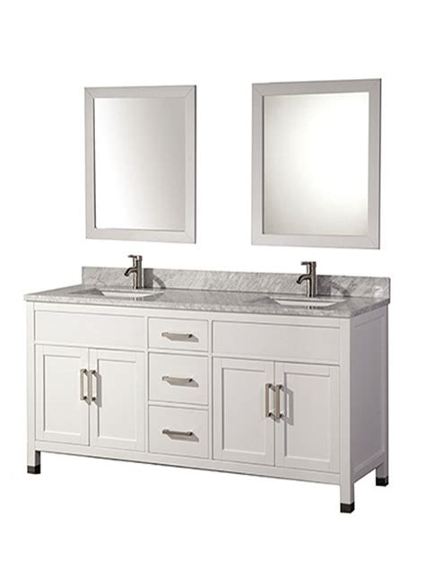 White Wood Bathroom Vanity by Acer 84 Inch White Solid Wood Bathroom Vanity