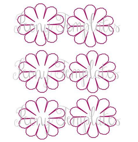 Paper Flower Printable Templates Diy Peony Paper Flowers Pdf Printable Flower Templates Diy Pdf Paper Flower Template