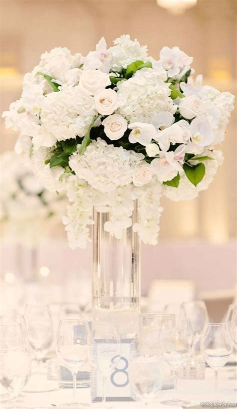 Wedding Flower Arrangement Ideas white winter wedding centerpieces ideas white ivory