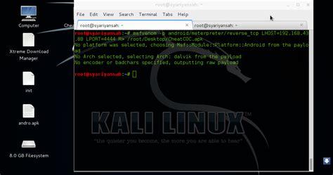 tutorial belajar kali linux hack android menggunakan kali linux lihat sms akses