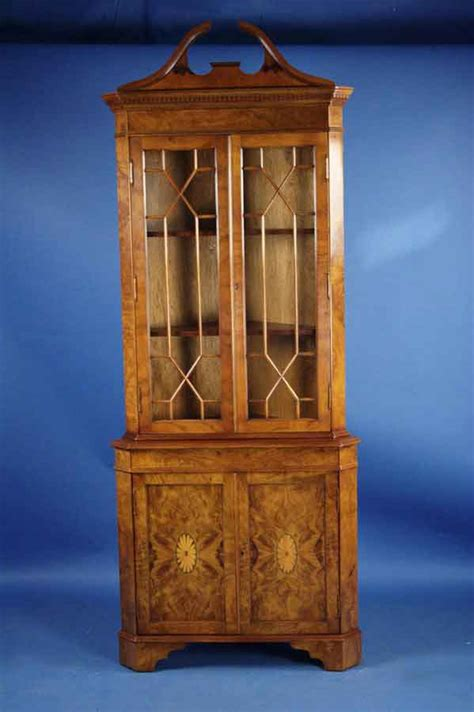 antique style walnut corner cabinet for sale antiques