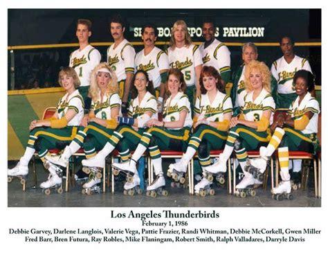 los angeles thunderbirds roller derby thunderbirds roller derby 1986 team photo quot i love l a