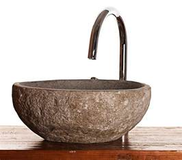 river rock granite mini bathroom sink wash basin 163 79