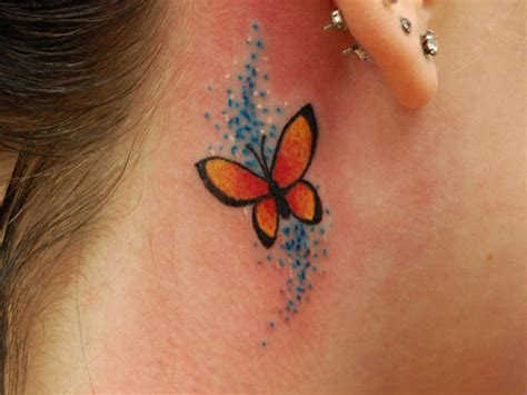 small butterfly tattoo behind ear butterfly tattoos page 64