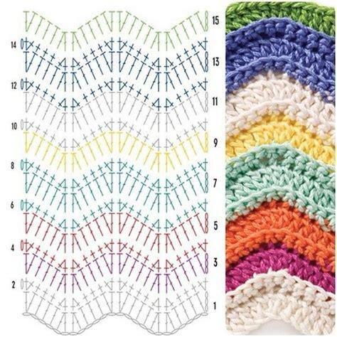 zig zag crochet stitch pattern 1110 best crochet diagrams stitch tutorials images on