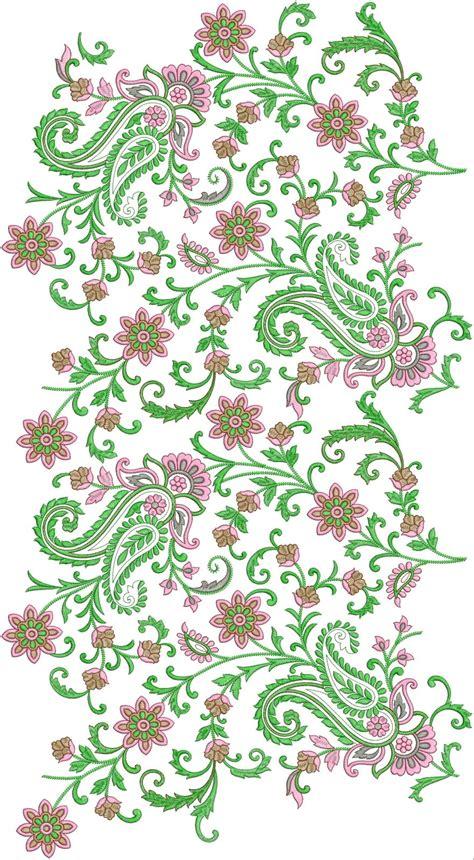 embroidered allover design embdesigntube all over butta design download part 1