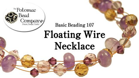 the bead company make a floating wire necklace