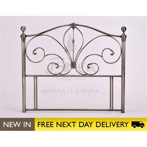 metal headboards double bed akita 4ft6 double nickel metal headboard cheapest birlea
