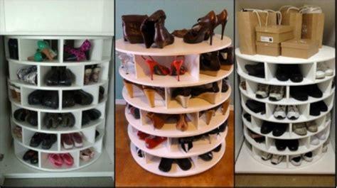 shoe carousel diy 11 brilliantly simple diy shoe storage hacks tiphero