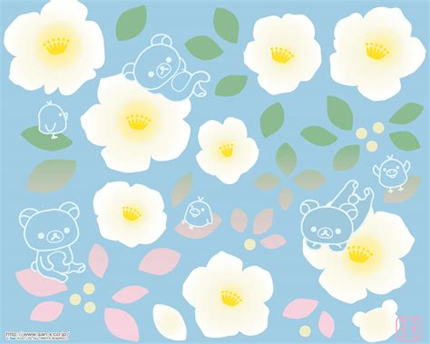 wallpaper kawaii flower rilakkuma wallpaper free rilakkuma wallpaper from san x