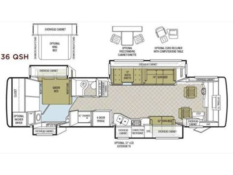 tiffin rv floor plans 2008 tiffin phaeton 36qsh photos details brochure