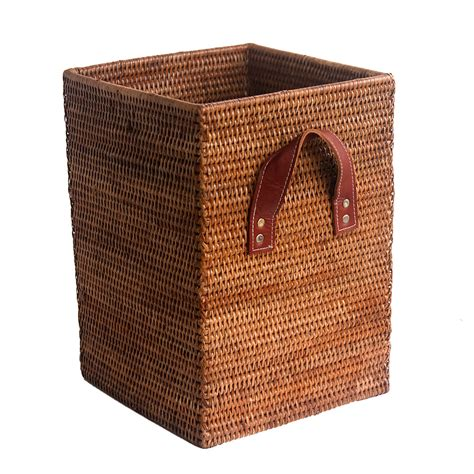 waste paper baslet square waste paper basket from myanmar
