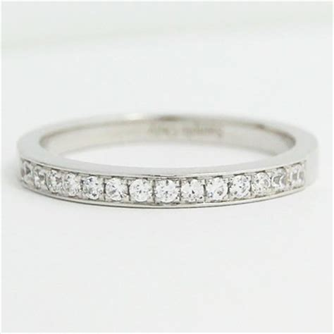 l93547c 2 1mm bead set in channel wedding band 14k white