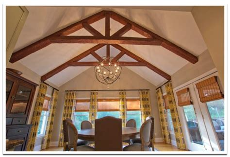 cathedral ceiling beams spectacular cathedral ceiling trusses faux wood workshop