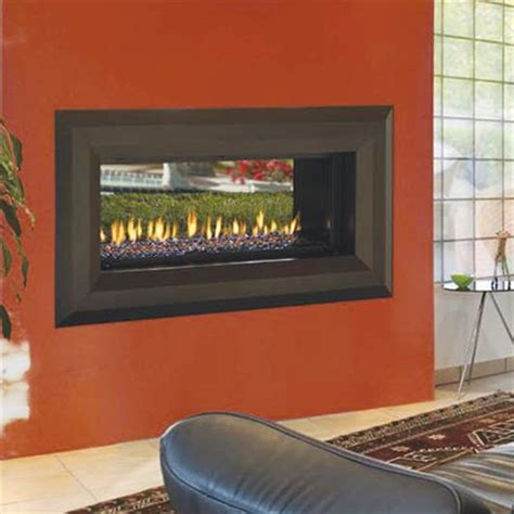 Sided Propane Fireplace by Fmi Venice Lights 43 Quot Direct Vent Single Sided Or See Thru