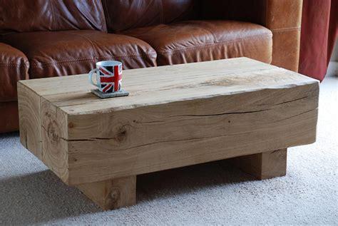 oak sleeper furniture beam coffee table
