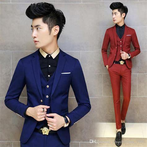 Sk 84 Korean Navy Blazer 1 2018 2016 korean tuxedo suit slim fit mens suits