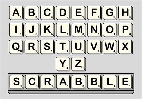 printable scrabble letters font scrabble vector set download free vector art stock