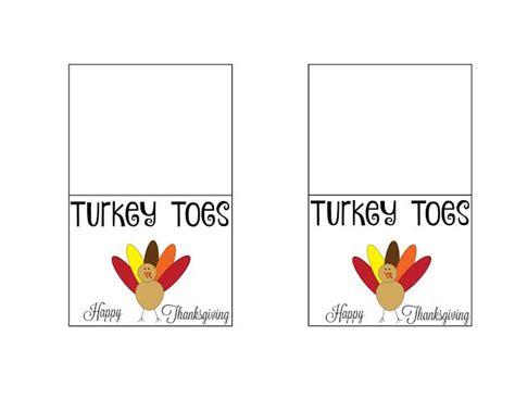 printable turkey toes turkey toes treat bags free printable bags treat bags