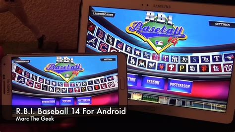 r b i baseball 14 android apps on google play r b i baseball 14 on android phone tablet youtube