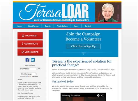 political newsletter template political websites by caign partner caign websites