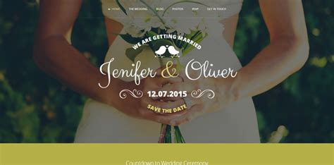 Wedding Bells Website by 20 Html Wedding Website Templates Code Geekz