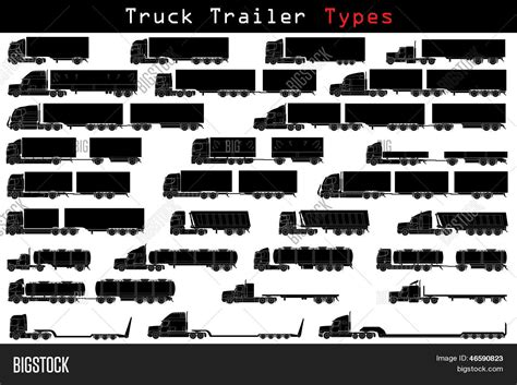 truck trailer types vector photo bigstock