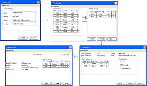 membuat dfd dari erd program logic college erd dan interface dari dfd level 0