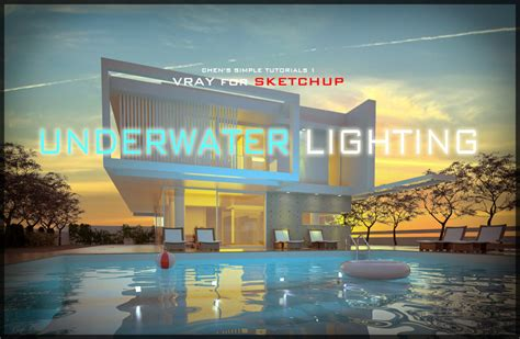 Vray Interior Rendering Tutorial Nomeradona Underwater Lighting Water Pool Material