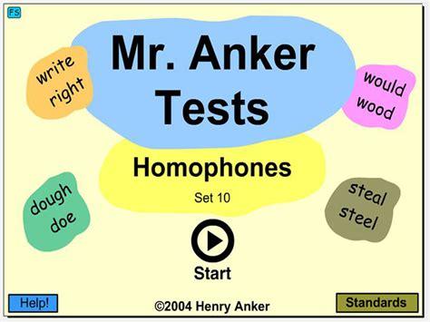 anker englisch mr anker tests homophones english guide org