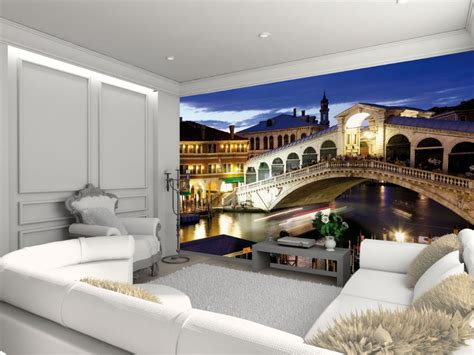 modern mural wallpaper wall mural venice rialto bridge stunning modern themed design