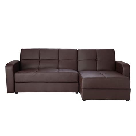 brand new leather corner sofa bed sofabed chaise with