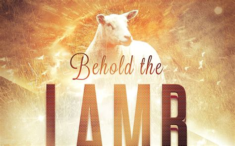 behold the lamb church flyer template by loswl on deviantart