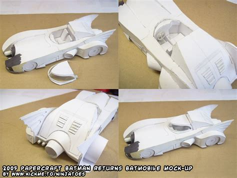 Batmobile Papercraft - papercraft batmobile mock up by ninjatoespapercraft on