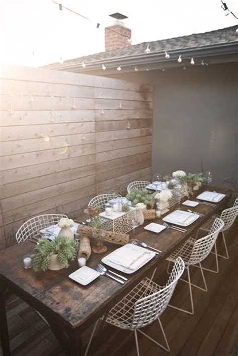 Stylish Entertaining by Chic Outdoor Entertaining Living In Modern Fashion