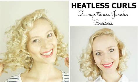 heatless curls for short hair 102 best hair curlers images on pinterest make up looks