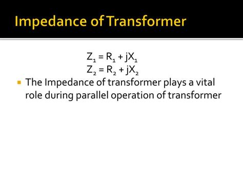 transformer impedance resistance reactance ppt hysteresis eddy current losses leakage reactance in transformer powerpoint presentation