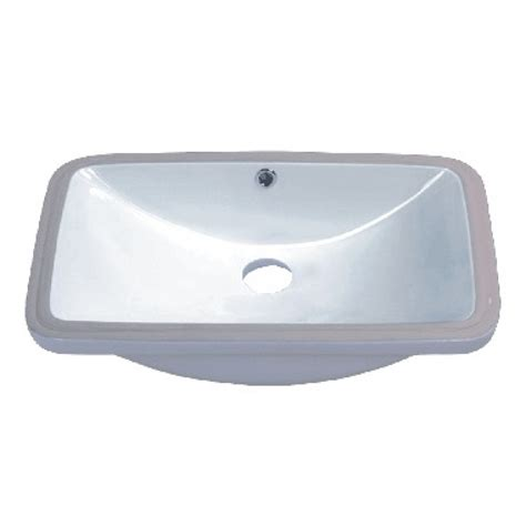 24 bathroom sink rectangular white porcelain ceramic vanity undermount
