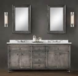 Deluxe zinc double vanity sink zinc