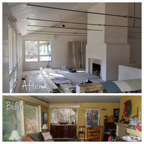 before and after house renovation before and after progress at north shore ranch house