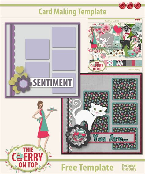 free digital card templates the cherry on top traditional card with digital